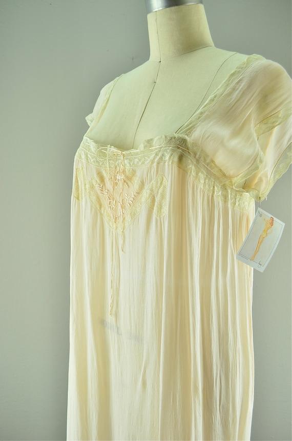 1920s Silk Nightgown Vintage Lingerie 20s Flapper
