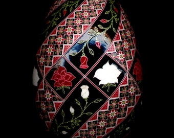 Made To Order War of the Roses Pysanka Batik Egg Art EBSQ Plus