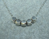Silver Nugget Necklace Modern Sterling Silver Minimalistic necklace minimal necklace silver necklace srajd