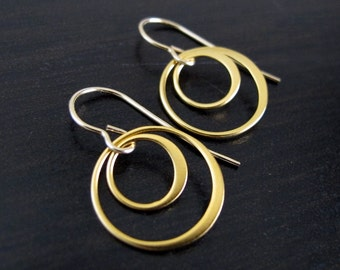 24kt Gold Vermeil Everyday Double Circle Earrings