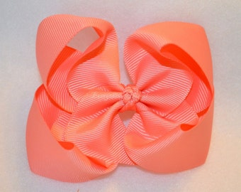 CLEARANCE Salmon Bowtique Bow