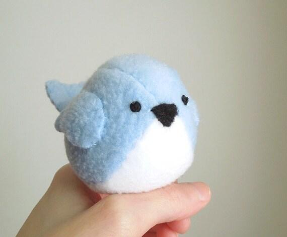 Childrens Light Bluebird Stuffed Animal Kids Plush Toy