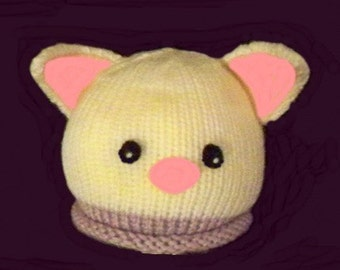 Baby Kitty Hat Baby Boy Girl Pattern for Kitty Hat / boy /girl / e pattern