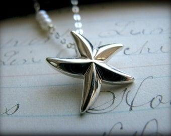 Star Necklace Sterling Hawaii Aloha Starfish Ocean Beach Nautical Gift Birthday Wedding Bridesmaids Best Friend Girlfriend