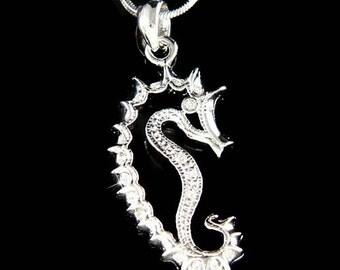 Swarovski Crystal Sea Horse SEAHORSE Beach Wedding Marine Pendant Necklace New