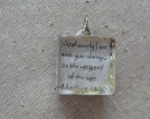 And surely I am with you always to the very end of the age...Hand Soldered Cube Pendant