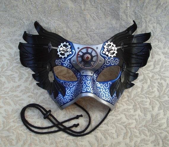 Il Tempo Vola V8... original mixed media handmade winged Venetian clockwork mask