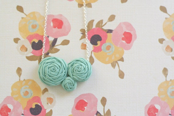 made to order - eisley necklace, blue.