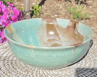 Pottery Bowl for Serving - CARYN - Colorful Tableware - Handmade Pottery by The Wheel and I