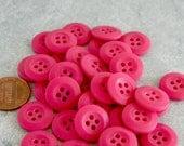 """3 Dozen New Fushia Plastic Buttons-5/8"""" -NPK2"""