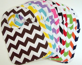 Baby Bibs - CHEVRON COLLECTION Minky Bibs