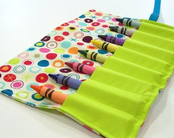 Crayon Roll Up - COSMO Crayon Roll - Party Favor - Stocking Stuffer -Kids