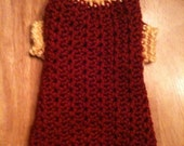Dog sweater, doggy sweaters, dog clothing, pet clothing, sweaters, red, yellow, crochet