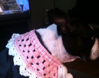 Dogs, Cats, Dog Collar, Dogy Neckwear, Dogs, Cat collar, Pet accessories, Crochet, Pink, White, Dog Accessories, Dog Fashions