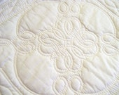 pillow cover hand quilted whole cloth