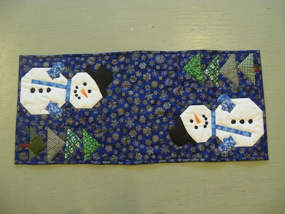 table runner Snowman