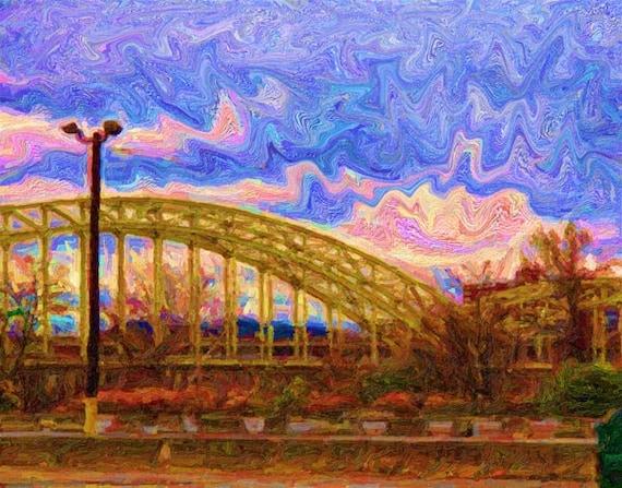Pittsburgh Bridge photo, Fine Art Digital Print, Urban Art