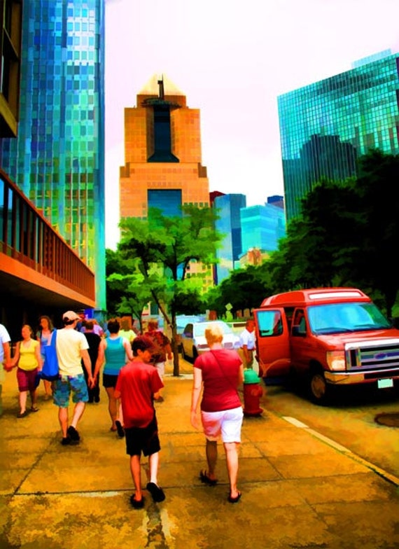 Pittsburgh PA Fine Art Photography, City Street Scene, Office Wall Art, 11x14 Giclee Fine Art Print