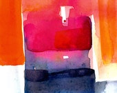 Abstraction Series . 205 ... Original abstract watercolor art ooak painting by Kathy Morton Stanion  EBSQ