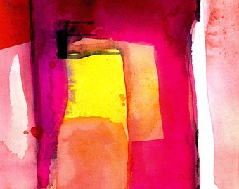 Abstraction Series . 212 ... Original abstract watercolor art ooak painting by Kathy Morton Stanion  EBSQ