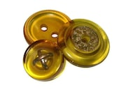 Antique Buttons Apple Juice Prystal (Translucent) Bakelite x3 NBS M, L