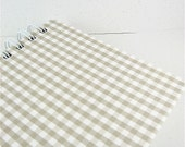Blank Journal Sketchbook / Neutral / White and Khaki / Checked