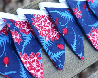 Fabric Bunting - Red, White and Blue