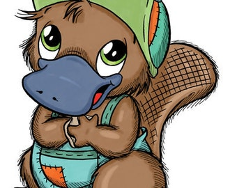 Bikkie the Platypus (DIGI STAMP)