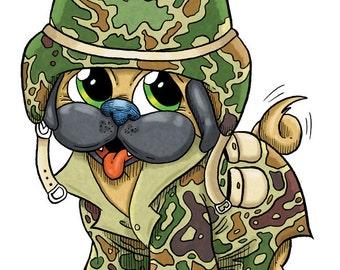 Soldier Pug (DIGI STAMP)