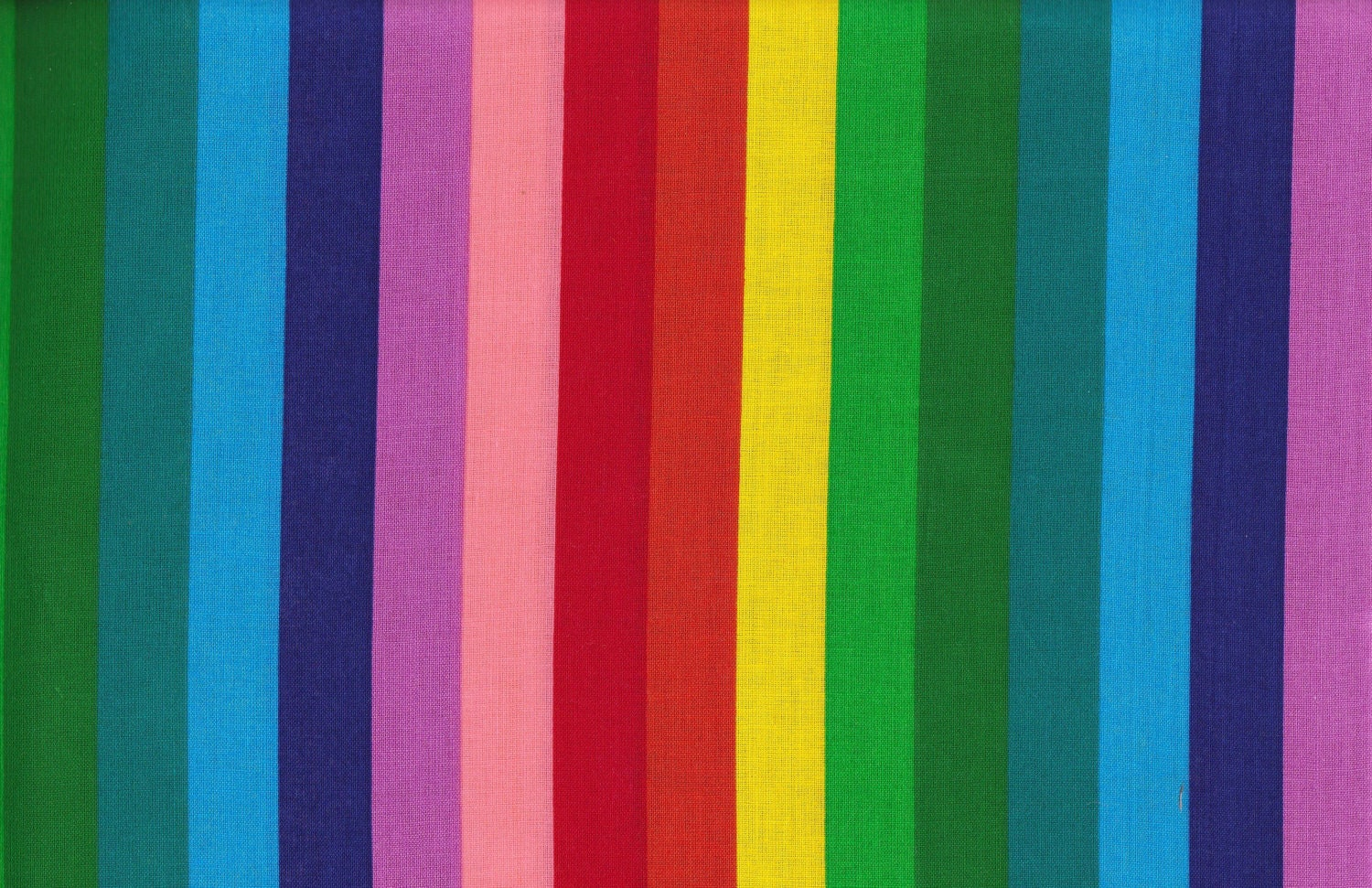 Rainbow multi color stripes fabric 2 pieces 25 x 44 and 22 for Rainbow color stripe watch