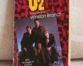 Vintage U2 Book--U2: A Biography by Winston Brandt, U2 Memorabilia, U2 Collectible, 1980s 80s Rock Memorabilia