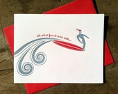 Holiday Surfer Card- set of six
