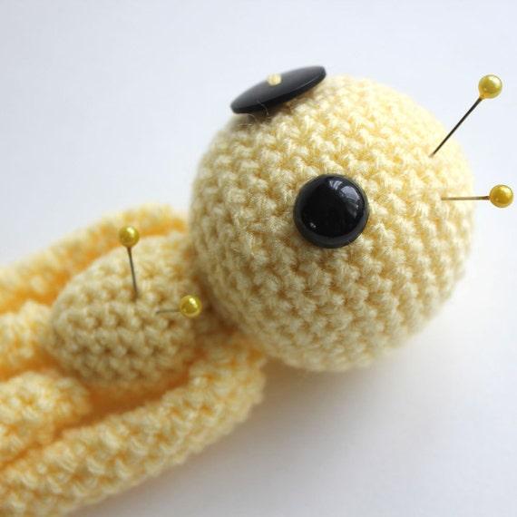 Happiness the Yellow Amigurumi Voodoo Doll