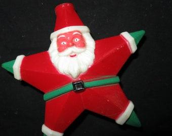 Vintage Plastic Santa Star