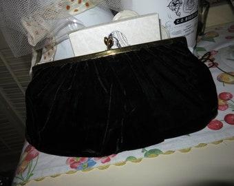 50's Black Velvet Ingber Purse