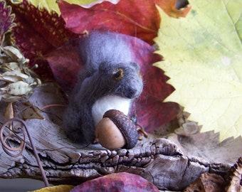 Needle Felted Grey Squirrel