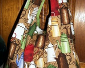 Vintage Coffee Pots Tote - Shopping - Market Bag