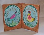 ATC Book--Two Birds---Original ATC's by Hilary Blackwood