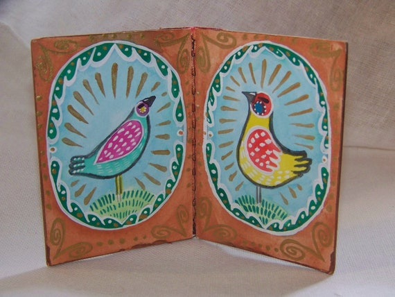 ATC Book--Two Birds---Original ATC's by Hilary Blackwood