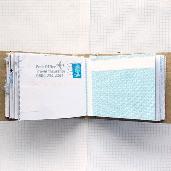 Mail Book - Recycled Paper Notebook - Mail Art