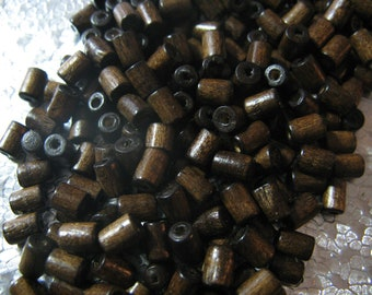 Dark Wood Bead  5x3mm Tube Wood Beads Jewelry Craft Beads Findings 400 Beads