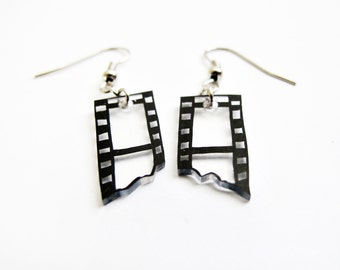 Camera Film Strip Hook Earrings