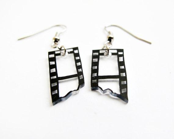 Camera Film Strip Hook Earrings