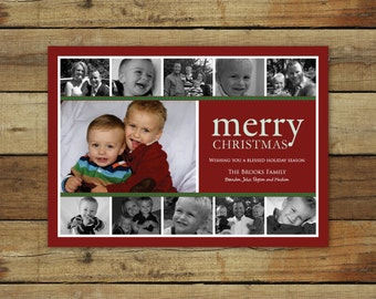 Photo collage Christmas card, holiday card