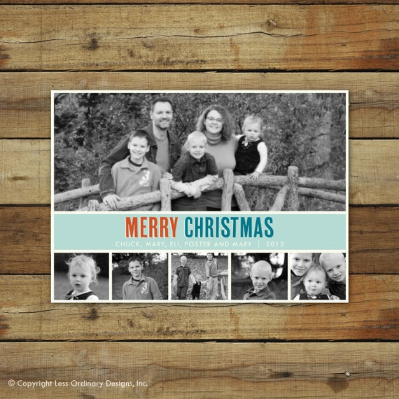 Christmas card, Holiday photo card, photo collage
