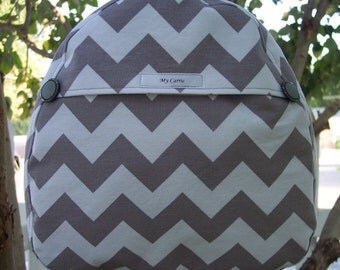 My Carrie Toddler/Baby Backpack in Grey Chevron or Color of Your Choice
