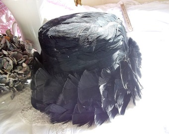Black Feather Hat Awesome Feathers and Fluff