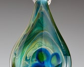 Glass Four Leaf Clover Pendant