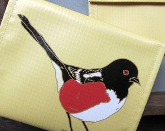 Towhee Coin Purse / Pouch / Wallet --Eco Friendly--Birder Gift