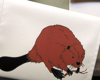 Beaver Coin Purse / Pouch / Wallet --Eco Friendly